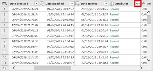 7- Liệt kê tệp dùng power query trong một thư mục và các thuộc tính tệp