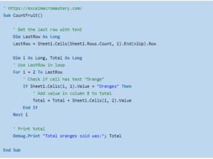 7- VBA for Loop