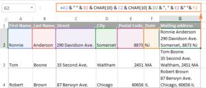 7-CONCATENATE trong Excel: Kết hợp chuỗi