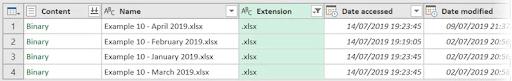 8- Liệt kê tệp dùng power query trong một thư mục và các thuộc tính tệp