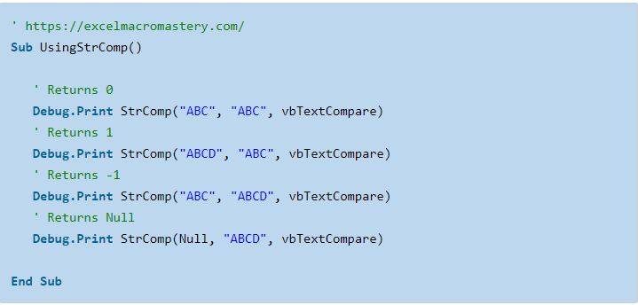 13- hướng dẫn cơ bản về hàm String VBA