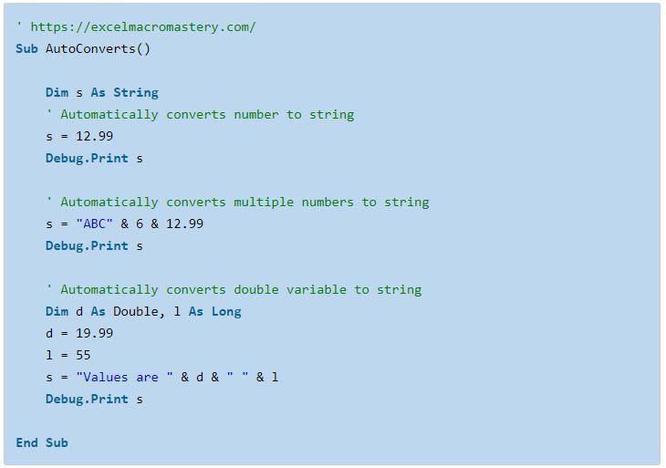 23- hướng dẫn cơ bản về hàm String VBA