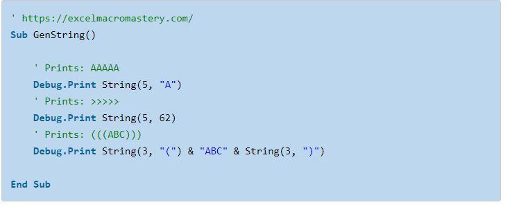 33- hướng dẫn cơ bản về hàm String VBA