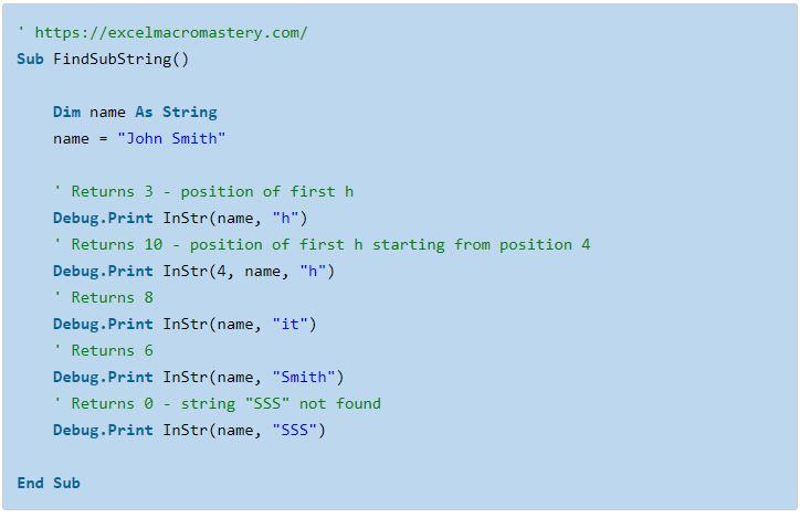 8- hướng dẫn cơ bản về hàm String VBA