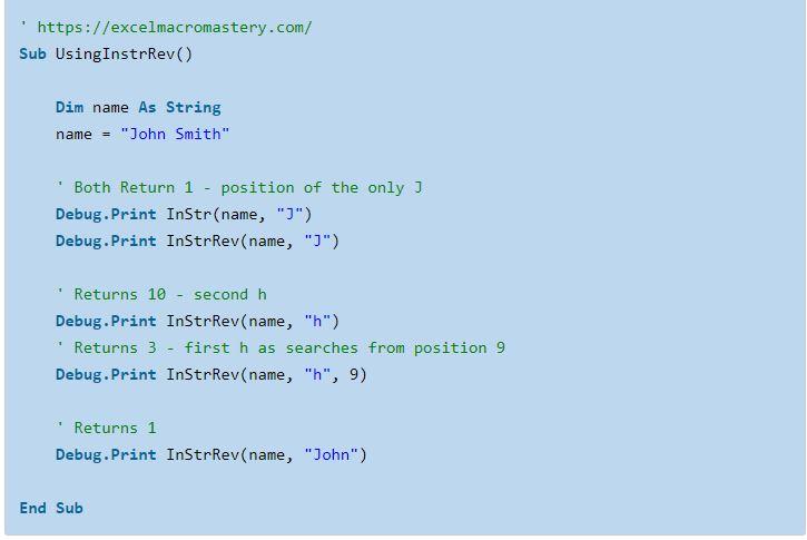 9- hướng dẫn cơ bản về hàm String VBA