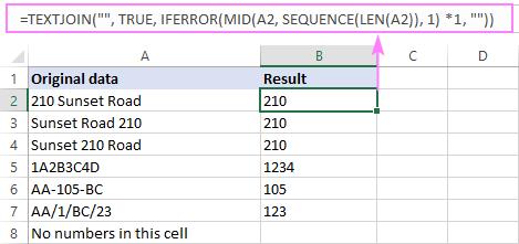 Cách lọc bỏ chữ khỏi ô dữ liệu trong Excel