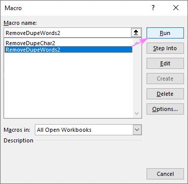 remove-dupe-words-macro