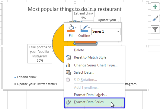 Select the option Format Data Series…