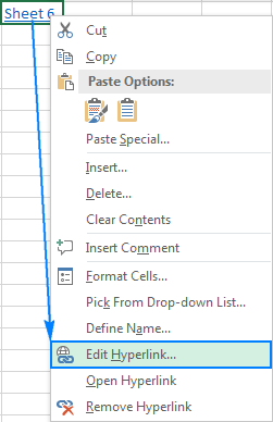 Editing a hyperlink in Excel