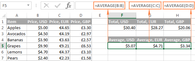Use a relative entire-column reference for the formula to get adjusted when copied to other columns.