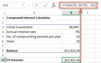 Calculating the future value of the investment with weekly compounding