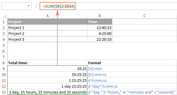 Adding up more than 24 hours in Excel