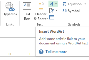 Click the WordArt icon to choose a style