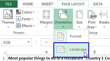 Pick the Landscape option