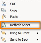 To update the information right click on the map and select the option Refresh Sheet