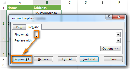 Eliminating line breaks using Excel Find and Replace