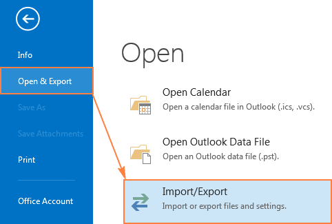 Restoring the pst backup in Outlook 2013 and Outlook 2016