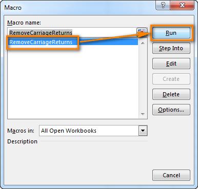 Press Alt+F8 to run the VBA macro
