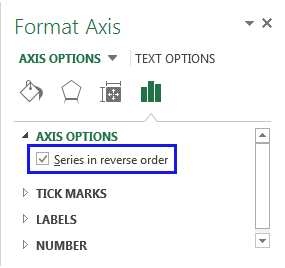Tick the checkbox next to Series in reverse order
