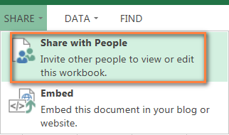 Sharing Excel Online spreadsheets with other users